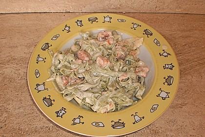 Butternudeln mit Lachs und Mozzarella 9