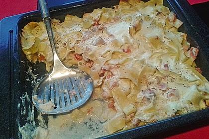 Butternudeln mit Lachs und Mozzarella 8