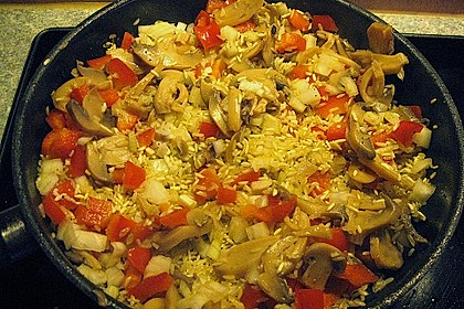 Hähnchenschenkel auf Reis 8