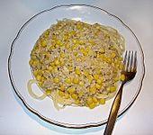 Thunfisch - Spaghetti mit Mais (Bild)