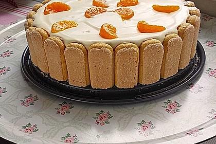 Philadelphia kuchen mit mandarinen
