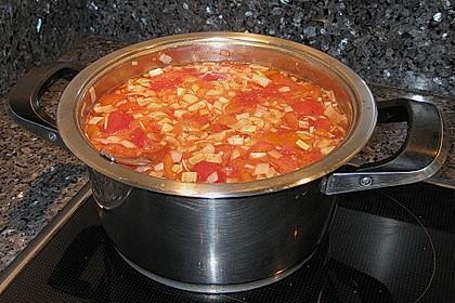 Klare Tomatensuppe mit Petersilienklößchen 13