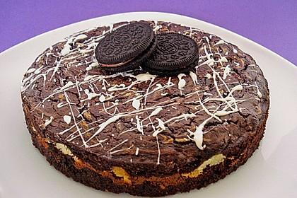 Oreo Brownies with Cream Cheese Swirls 3