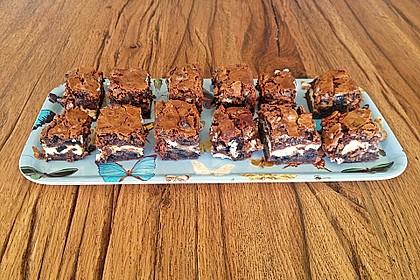 Oreo Brownies with Cream Cheese Swirls 12