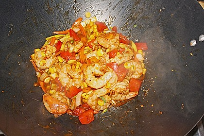 BBQ Garnelen in Honig - Senf - Sauce 7