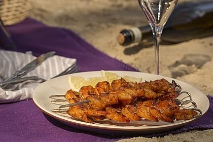 BBQ Garnelen in Honig - Senf - Sauce 6