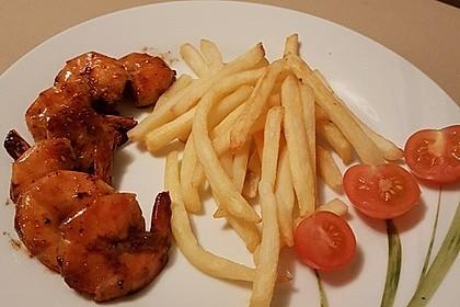 BBQ Garnelen in Honig - Senf - Sauce 4