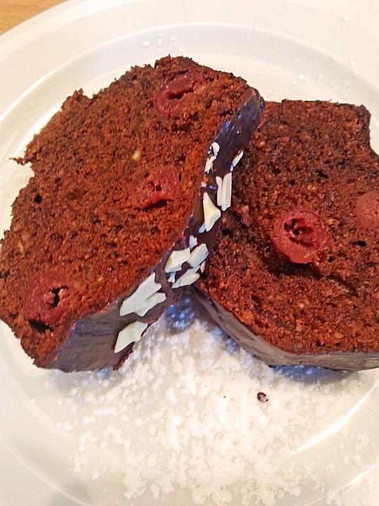 schneller schokoladenkuchen mit kirschen rezept mit bild. Black Bedroom Furniture Sets. Home Design Ideas