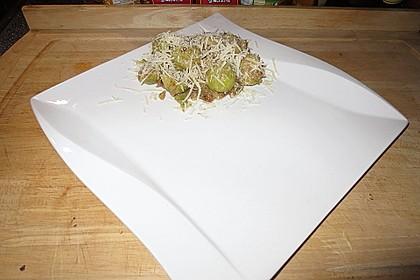 Rosenkohlsalat mit Eier und Speck 6