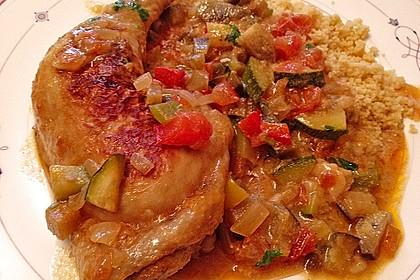 Couscous mit Hähnchen in mediterraner Sauce 3