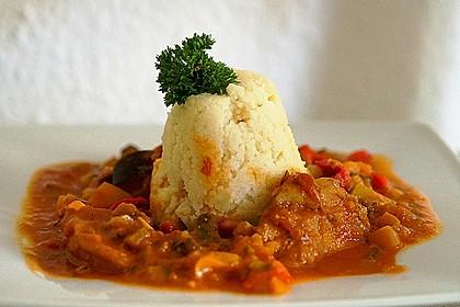 Couscous mit Hähnchen in mediterraner Sauce 4