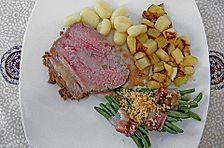 Rinderbraten mit Senf - Kräuter - Kruste