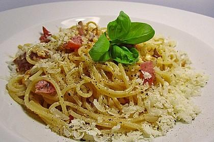 Sayas leichte Spaghetti Carbonara 1