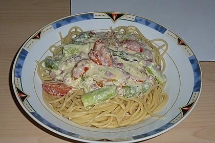 Sayas leichte Spaghetti Carbonara 55