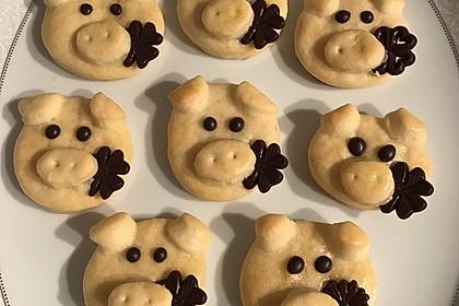 Glücksschweinchen aus Quark - Öl - Teig 36