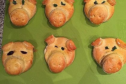 Glücksschweinchen aus Quark - Öl - Teig 54