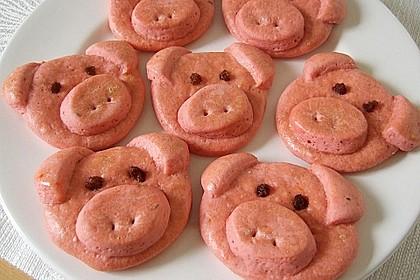 Glücksschweinchen aus Quark - Öl - Teig 10