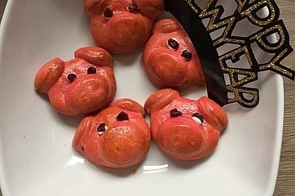 Glücksschweinchen aus Quark - Öl - Teig 35