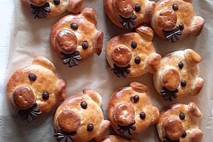 Glücksschweinchen aus Quark - Öl - Teig