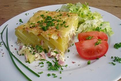 Würziger Kartoffelauflauf
