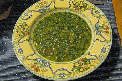 Spinatsuppe west - östlich