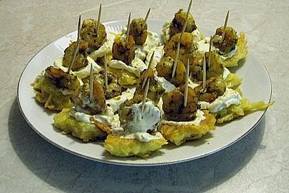 Garnelen auf Kartoffelplätzchen 3