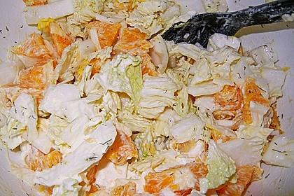 Chinakohl mit Orangenwürfeln 22