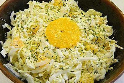 Chinakohl mit Orangenwürfeln 1