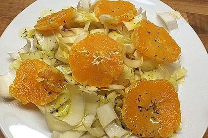 Chinakohl mit Orangenwürfeln 4