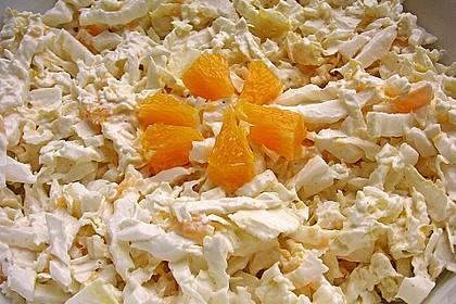 Chinakohl mit Orangenwürfeln 13