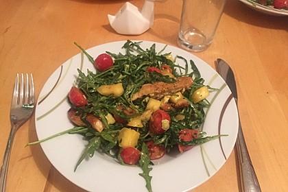 Mango-Avocado-Salat mit Hühnerstreifen, Rucola und Tomaten 20