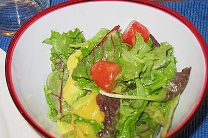 Mango-Avocado-Salat mit Hühnerstreifen, Rucola und Tomaten 59