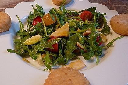 Mango-Avocado-Salat mit Hühnerstreifen, Rucola und Tomaten 23