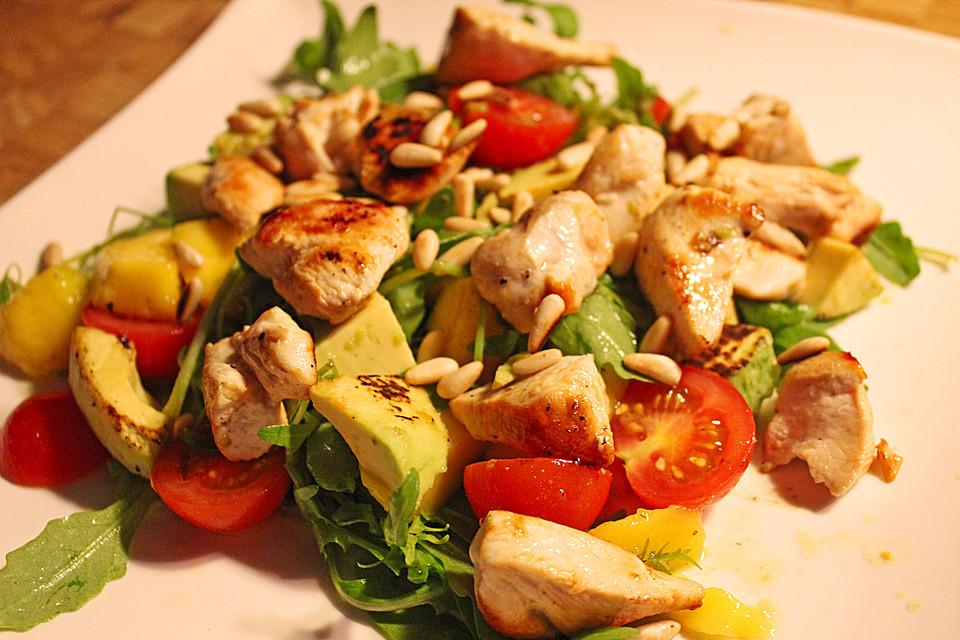 Salat rezept mit hahnchenbrust