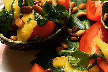 Mango-Avocado-Salat mit Hühnerstreifen, Rucola und Tomaten 19