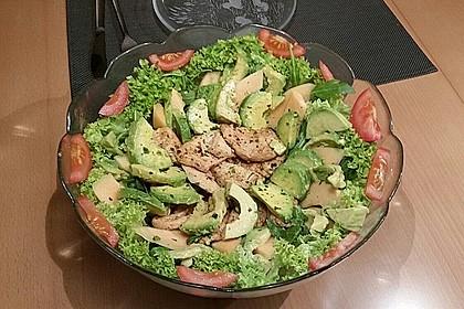 Mango-Avocado-Salat mit Hühnerstreifen, Rucola und Tomaten 34