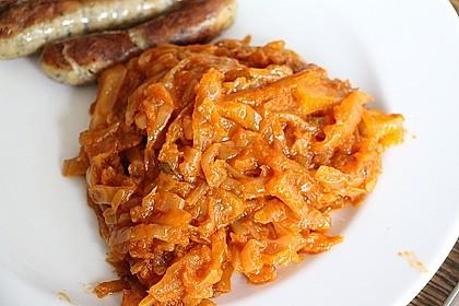 Gedünstetes Paprika - Tomaten - Kraut