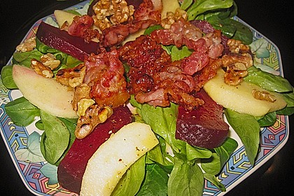 Feldsalat mit Rote Bete 1