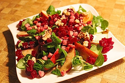 Feldsalat mit Rote Bete