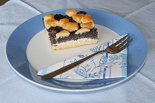 mohn quarkkuchen vom blech rezept mit bild von lore ks. Black Bedroom Furniture Sets. Home Design Ideas