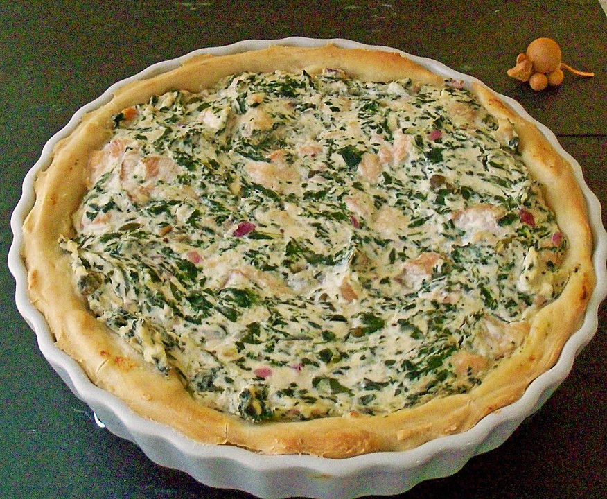 spinat lachs quiche thermomix. Black Bedroom Furniture Sets. Home Design Ideas