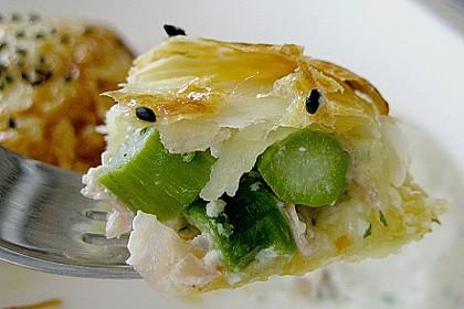 Blätterteigtäschchen mit Spargel - Prosciutto - Mascarpone - Füllung 4