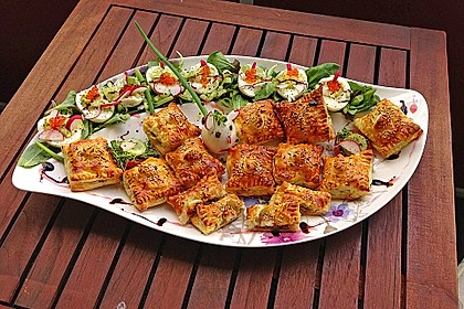 Blätterteigtäschchen mit Spargel - Prosciutto - Mascarpone - Füllung 2