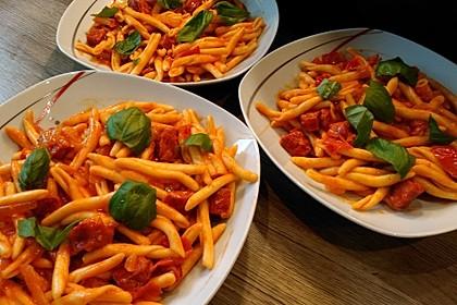 Pasta mit Chorizo - Zwiebel - Sauce 3