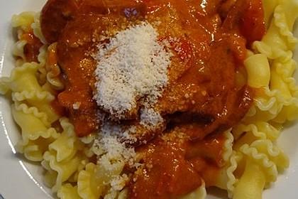 Pasta mit Chorizo - Zwiebel - Sauce 32
