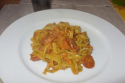 Pasta mit Chorizo - Zwiebel - Sauce 41