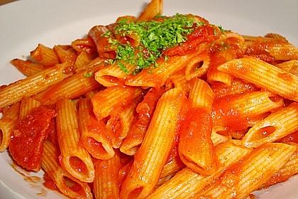 Pasta mit Chorizo - Zwiebel - Sauce 16