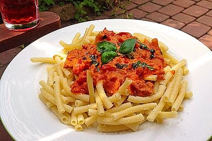 Pasta mit Chorizo - Zwiebel - Sauce 8
