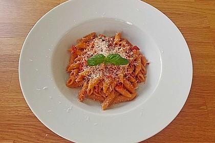 Pasta mit Chorizo - Zwiebel - Sauce 18