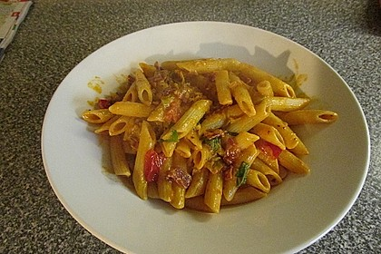 Pasta mit Chorizo - Zwiebel - Sauce 35